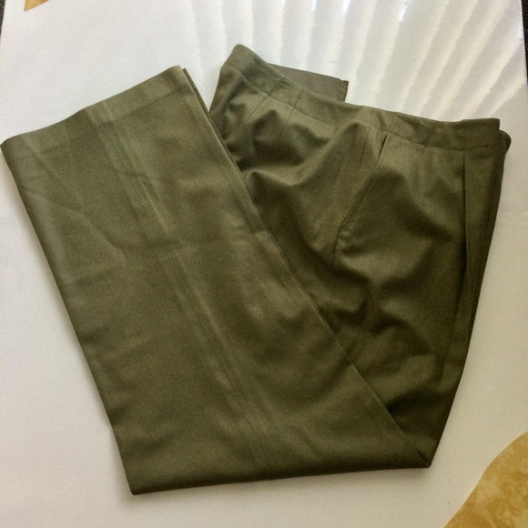 Ellen Tracy Pants - Linda Allard for Ellen Tracy Green Trousers Size16